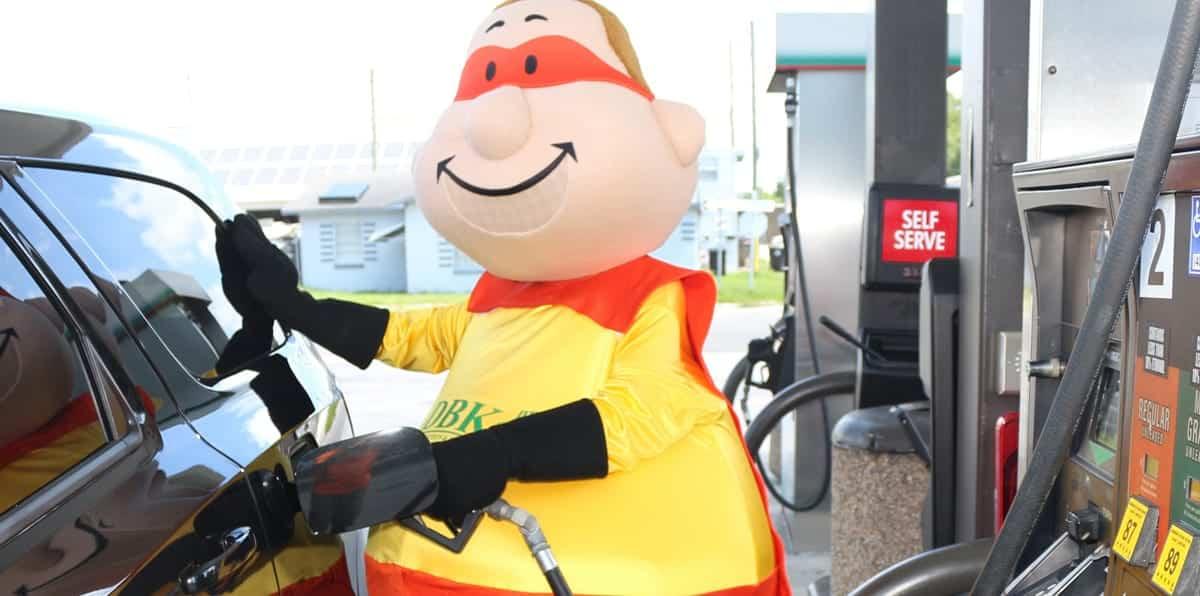 DBK Construction Bert Mascot Pumping Gas